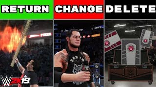 WWE 2K19: 15 Things To Return, Change And *DELETE*