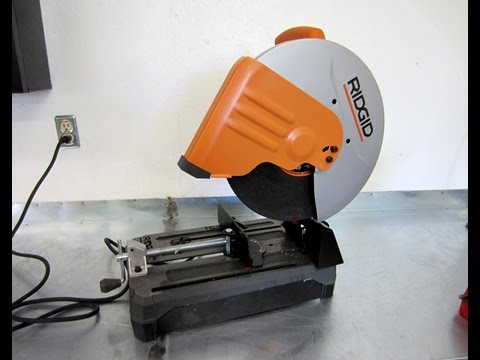 Tool Review Ridgid R4141 Abrasive Cut Off Saw Youtube