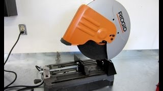 Tool Review - Ridgid R4141 Abrasive Cut Off  Saw