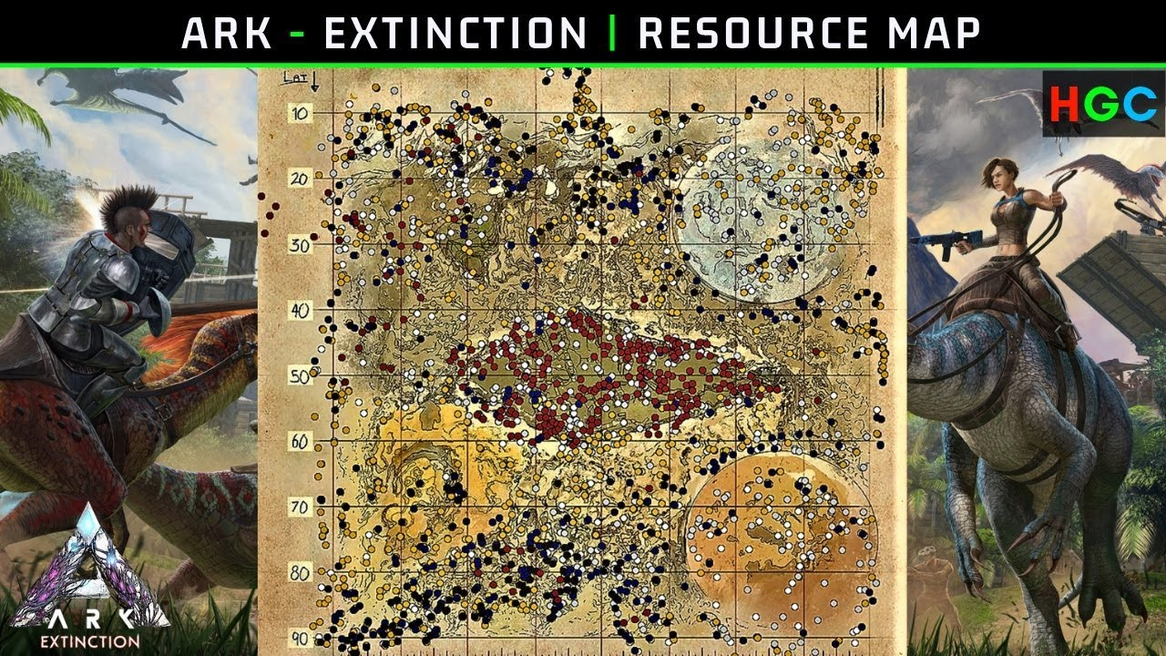 ARK - Extinction | Resource Map Breakdown (Narrated by ...