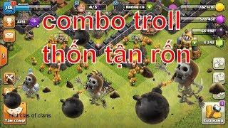 NMT | Clash of clans | Chay ôm bom combo troll bá đạo của nkokmt - Wall Breaker