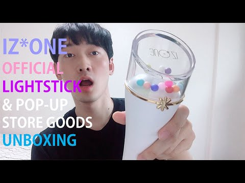 izone-official-lightstick-アイズワンペンライト-&-pop-up-store-goods-unboxing