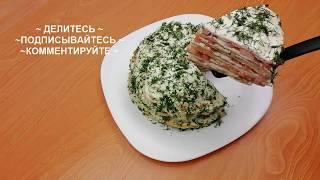 Вкуснейший Торт из кабачковых блинчиков!Торт из кабачков/ Snack cake zucchini English Subtitles