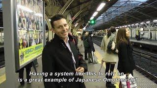 時刻表通りに来る日本の電車 外国人から見た日本  Japan's Trains- Always on Time! OMOTENASHI