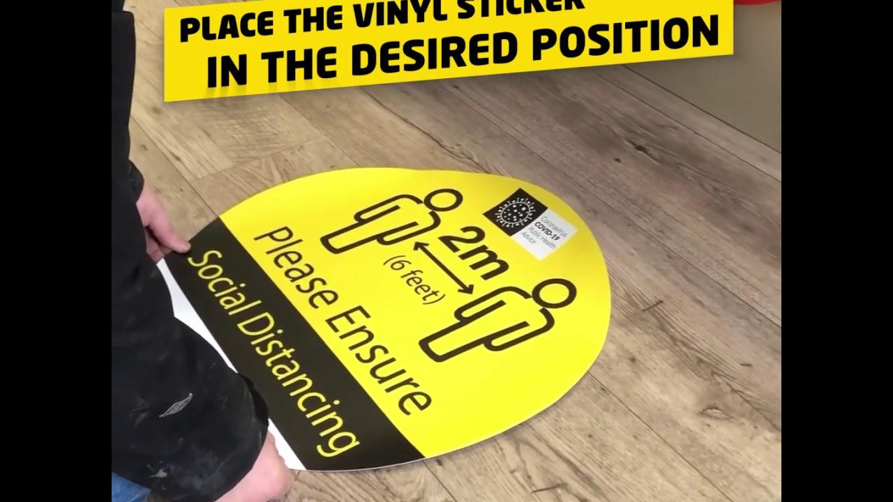 Social Distancing Floor Vinyl Stickers