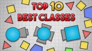 Diep.io // TOP 10 BEST CLASSES [2018] // Strongest Diep.io Tanks