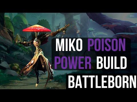 Miko Poison Power Build - Overpowered Healing Sustain Damage Build - Battleborn PS4