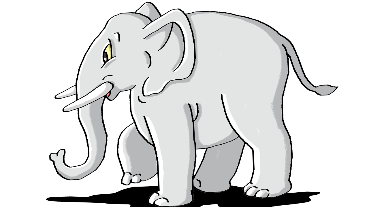 How to Draw Elephant Step by Step For Kids - YouTube