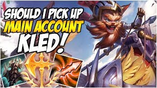 SHOULD I PICK UP KLED? - Climb to Master S8 | League of Legends