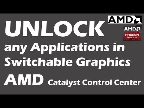 Unlock Switchable Graphics Applications in AMD GPU