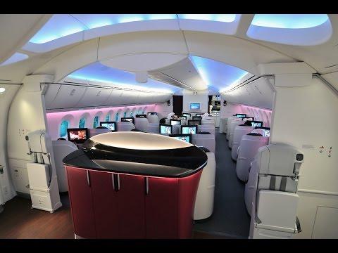 Qatar Airways Business Class Video Collection A319-A320-A340-A350-A380-B787