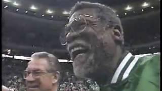 Knicks Vs. Celtics - 1997 Highlights  Ewing Alley-oop Over Wesley, Starks Circus Shot