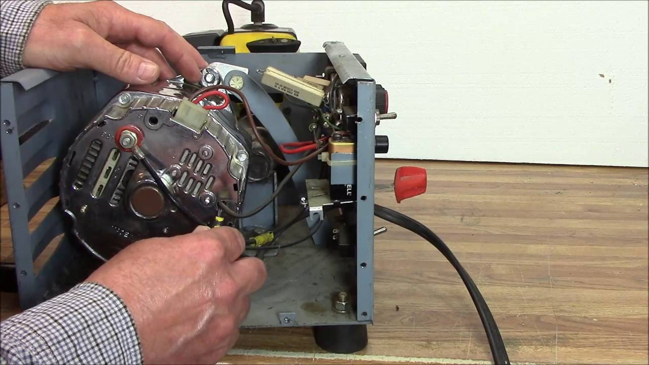 How To Build An Alternator Motor Generator Battery Charger W String 100 Amp Gm Wiring Trimmer Part 2 Of Youtube