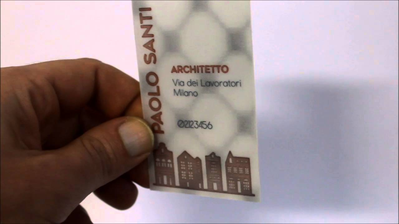 eyextra biglietti da visita 3d architetto youtube
