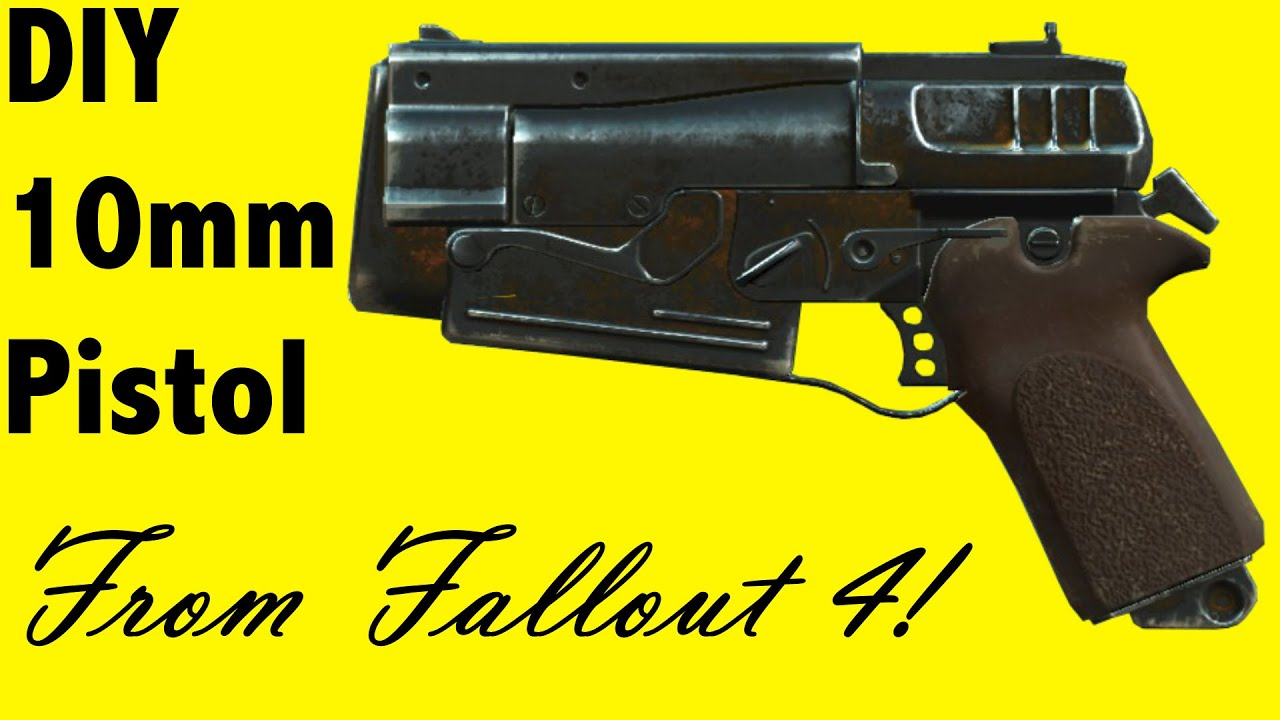 How to make the 10mm pistol from fallout 4 diy youtube solutioingenieria Image collections
