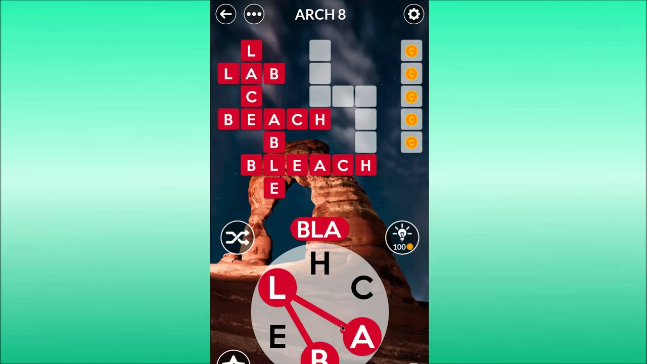 Wordscapes Arch Level 8 Answers Youtube