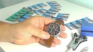 как поменять батарейку на часах CASIO EDIFICE