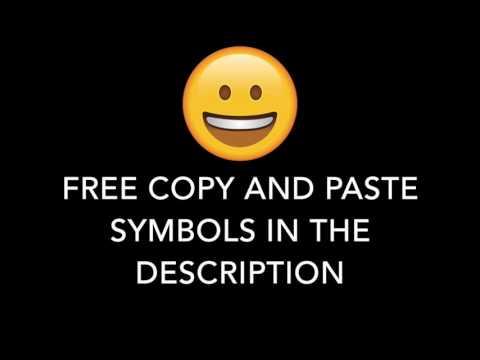 FREE COPY AND PASTE SYMBOLS IN THE DESCRIPTION