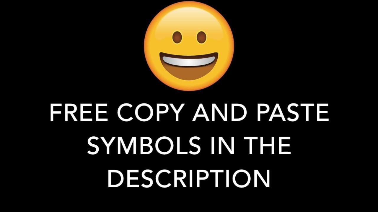 Free Copy And Paste Symbols In The Description Youtube