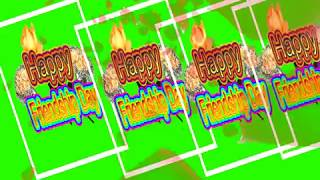 Happy Friendship Day Green Screen Effects - Happy Friendship Day speciel 3D Animated Video No 76