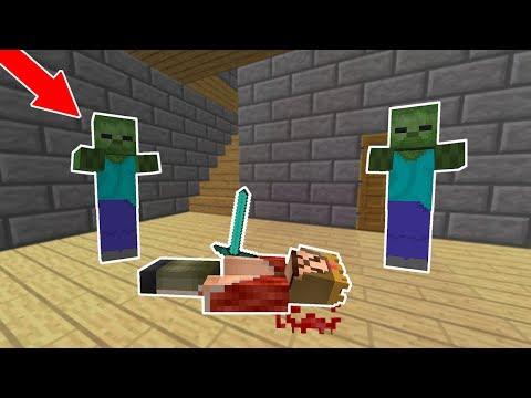 ZENGİNİ ZOMBİLER ISIRDI! 😱 - Minecraft