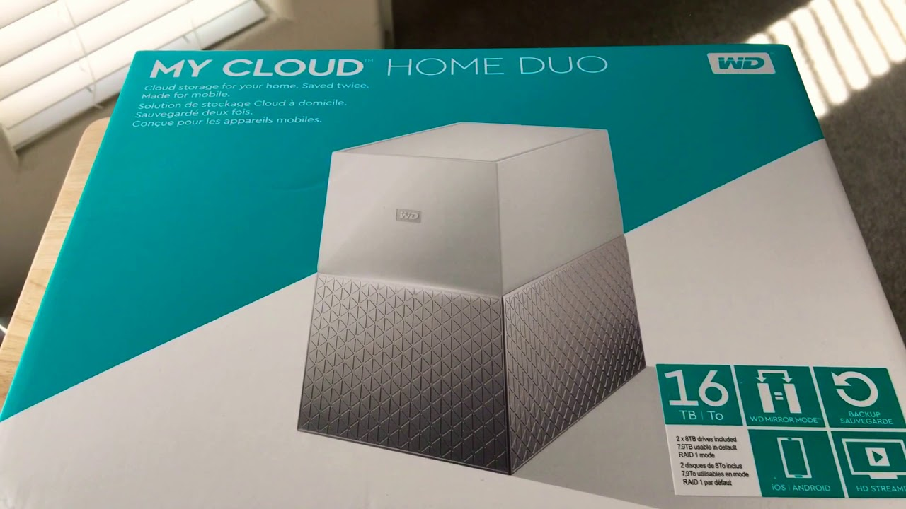 My Cloud Home Duo WD 16TB Network Attached Storage NAS Unboxing