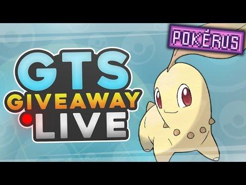 6IV SHINY Chikorita Starter w/ Pokerus GTS Giveaway LIVE! w/ Sacred - Pokemon Sun and Moon