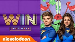 Kira Kosarin & Jack Griffo Read Fan Comments, SLIME!, SpongeBob Challenges, & More! | #WinYourWeek