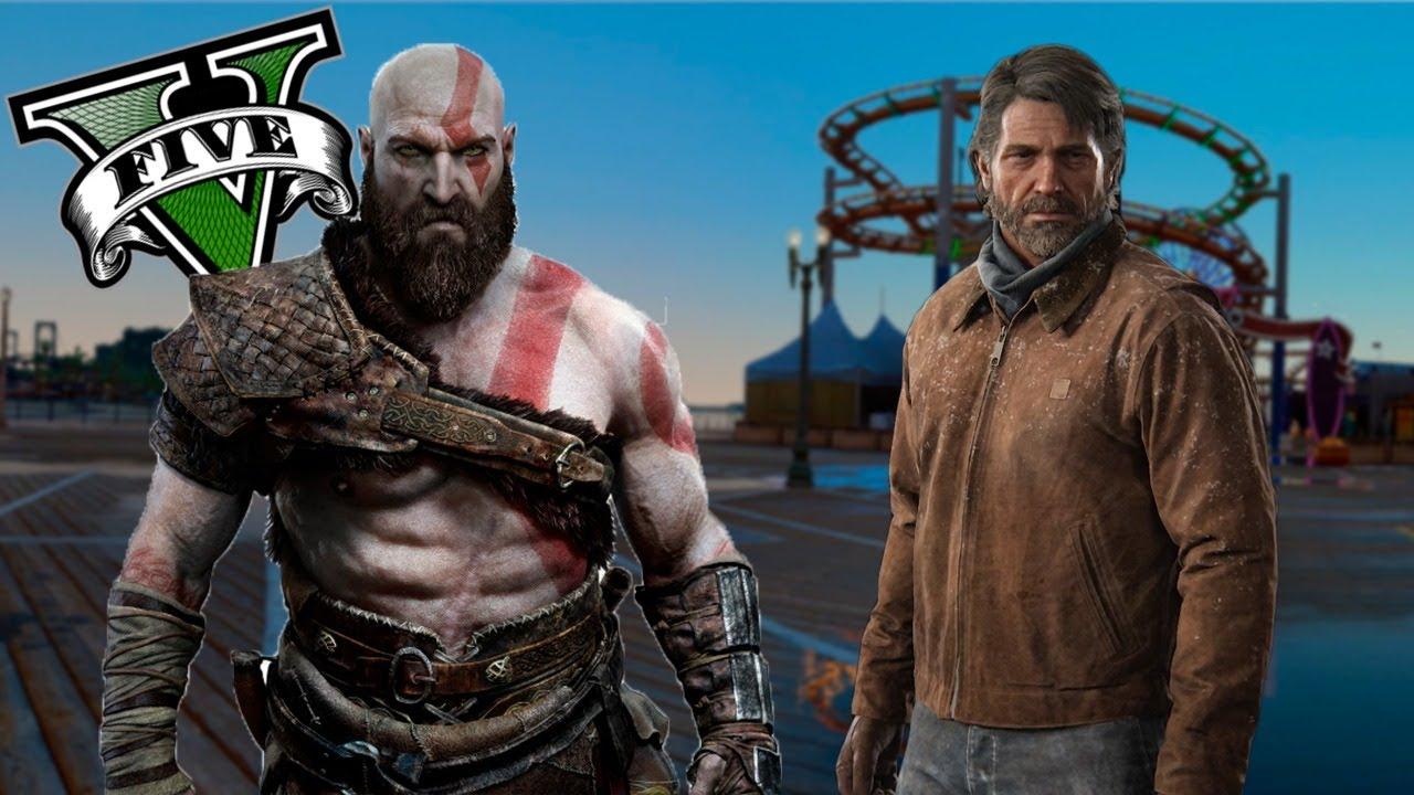 KRATOS salva a JOEL | GTA V | Mods | God Of War | The Last Of Us