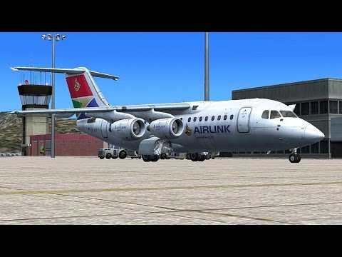 Tuesday LIVE (''A tour of Saint Helena'' ) Avro RJ-85 *Airlink* Microsoft Flight Simulator X