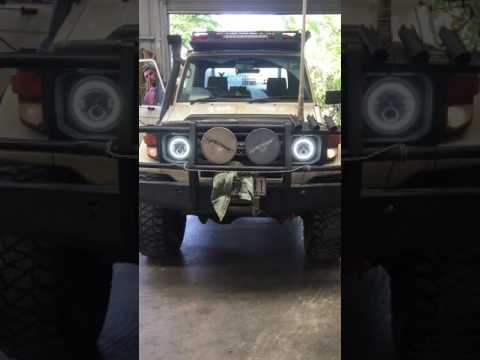 JTX LED Headlights 75 79 series Toyota Landcruiser 4  YouTube