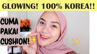 MAKEUP KOREA SIMPLE! PAKAI 100% PRODUK KOREA + REVIEW! | Makeup Korea Natural | raniekarlina