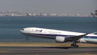 """トリプルセブンのしなり """"B777-300ER Take off"""" ANA (All Nippon Airways) Boeing 777-381/ER JA784A"""
