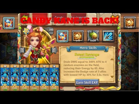 CANDY KANE | SACRED LIGHT | 12 SKILL | RAIDING | CASTLE CLASH
