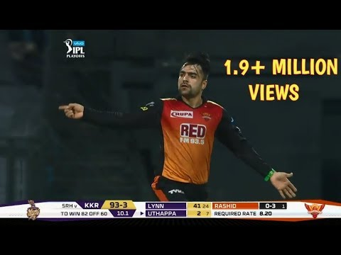 Super Mystery Over Bowling By Rashid Khan IPL 2018