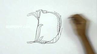 How to Draw Alphabet Letter D