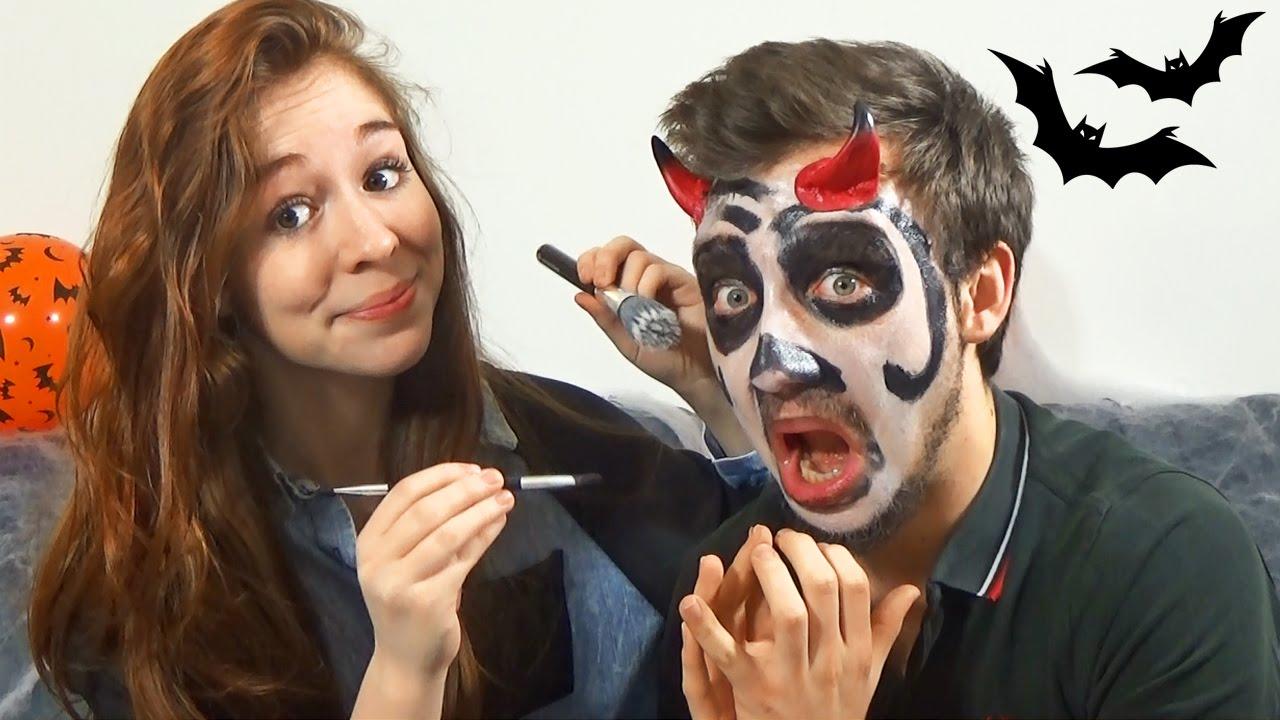 Maquillage d 39 halloween en couple qui tourne mal youtube - Maquillage halloween couple ...