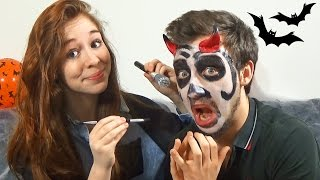 maquillage d halloween en couple qui tourne mal