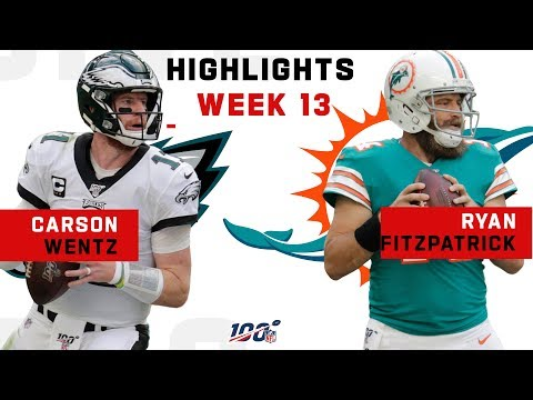 Wentz vs. Fitzpatrick 3-TD QB Battle   NFL 2019 Highlights