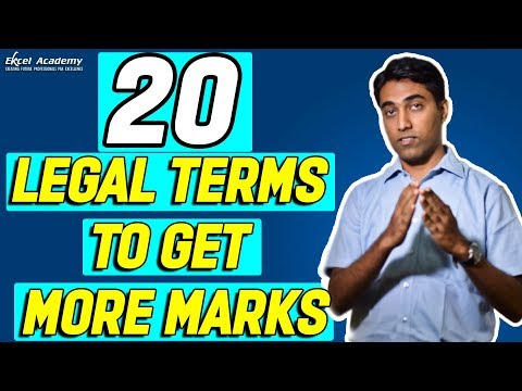 CS Exam Tips : 20 Legal Terms to Get More Marks