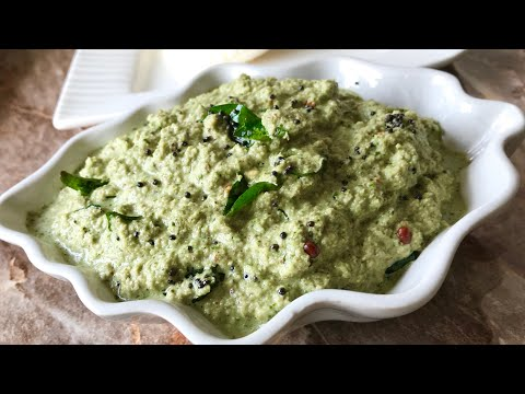 Coconut and mint chutney for breakfast