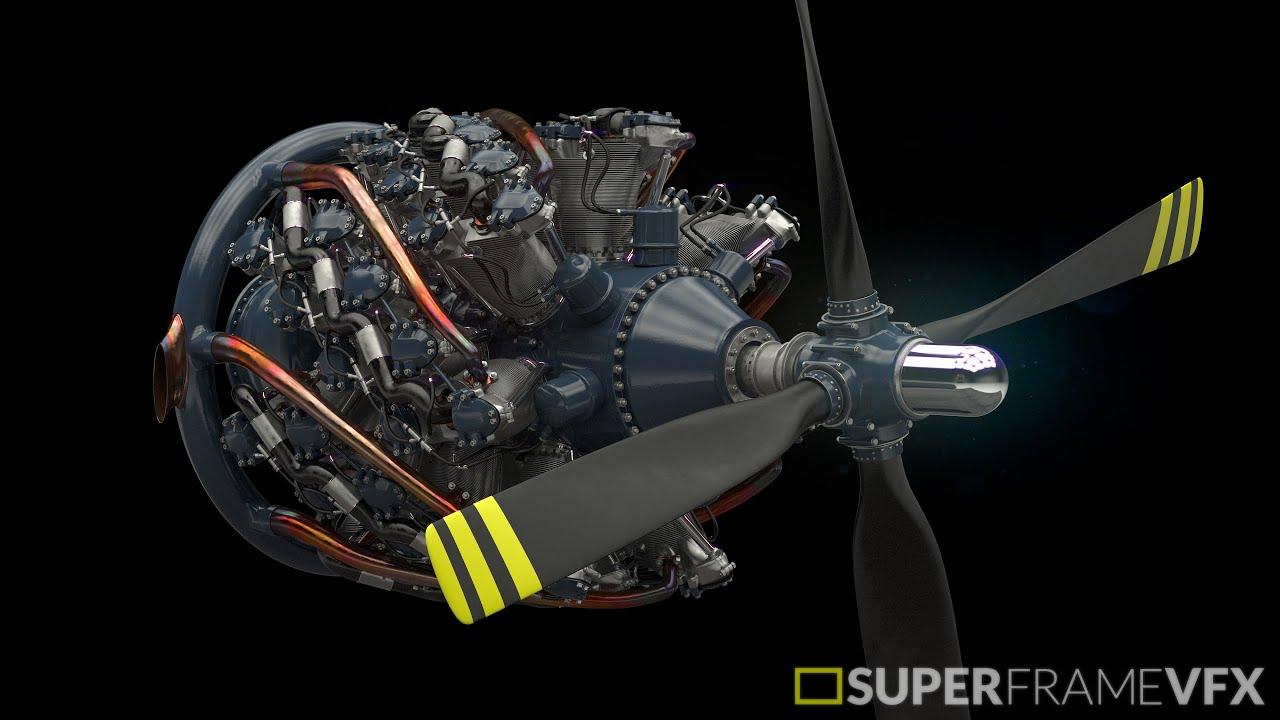 Pratt & Whitney R-4360 Radial Engine - YouTube