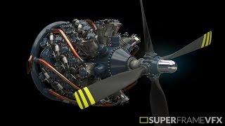 Pratt & Whitney R-4360 Radial Engine