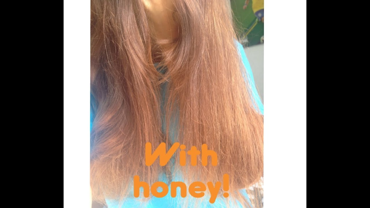 How To Lighten Your Hair With Naturally With Honey Youtube