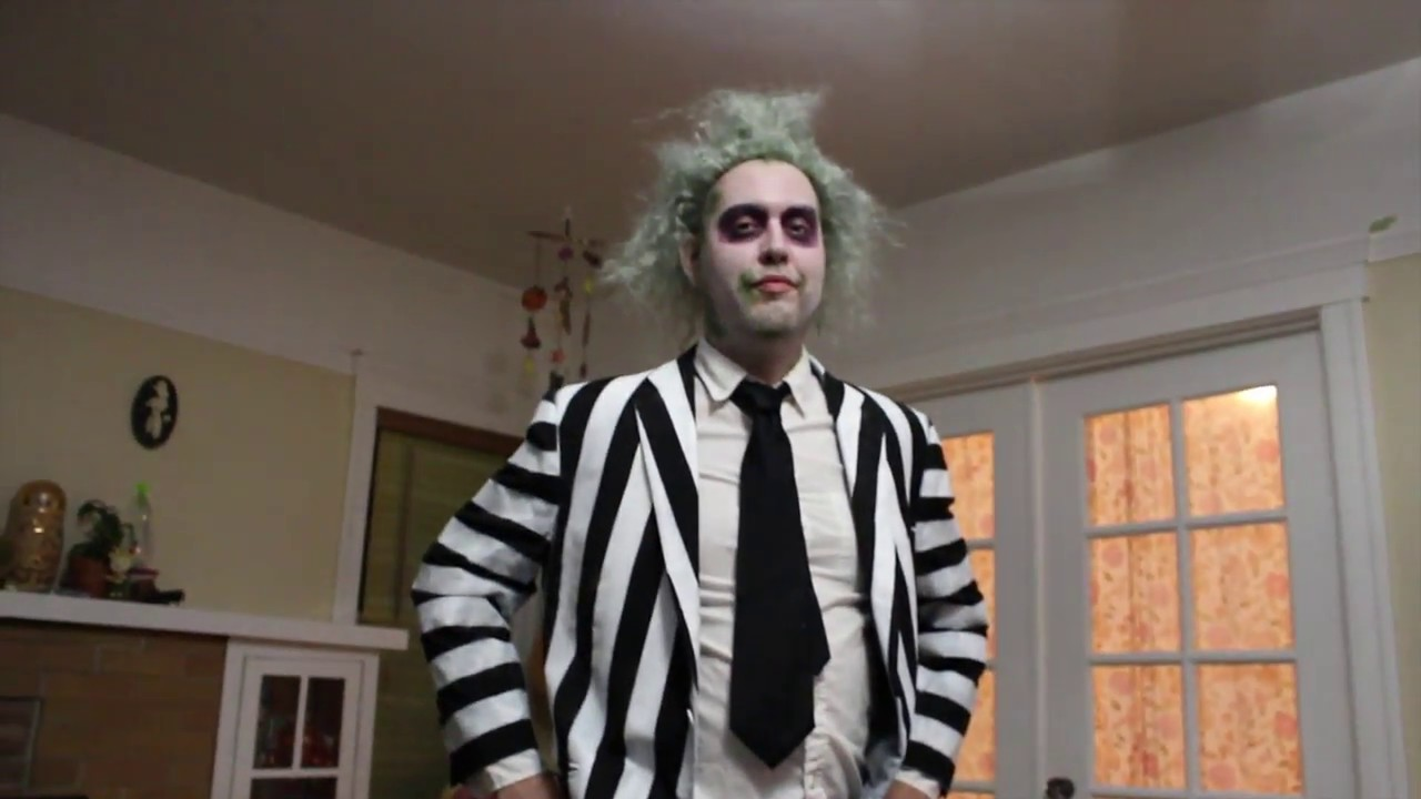 Diy Beetlejuice Suit Youtube