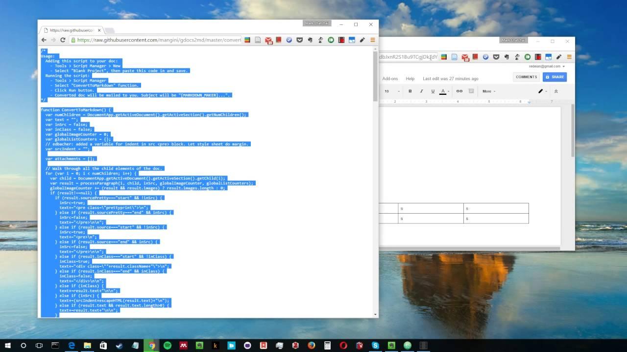 Convert Google Doc to Markdown