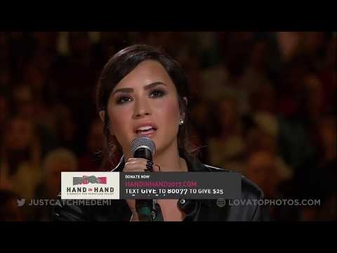 Demi Lovato performing 'With A Little Help From My Friends' at Hand In Hand - September 12, 2017