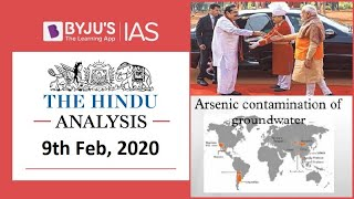 'The Hindu' Analysis for 9th Feb, 2020. (Current Affairs for UPSC/IAS)
