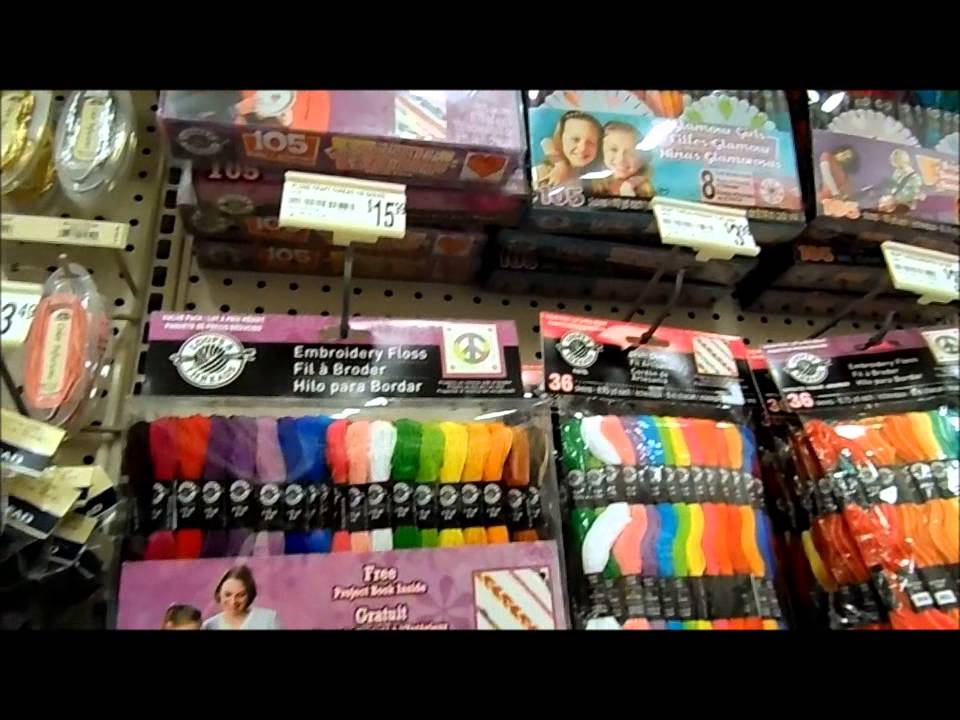 I 39 m at michael 39 s craft store buying some dmc floss youtube for Michaels craft store watches