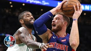 Blake Griffin, Kyrie Irving go back-and-forth in Pistons' win | NBA on ESPN